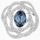 Barrett 胸针, 蓝色, 镀铑 - Swarovski, 5122715