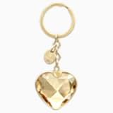 New Heart Bag Charm, Golden, Gold plating - Swarovski, 5127860