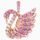 18K RG Dia Mini Swan Pendant (Pink) - Swarovski, 5135044