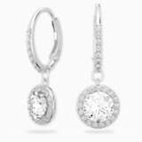 Attract Earrings, White, Rhodium plated - Swarovski, 5142721