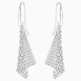 Fit Pierced Earrings, White, Rhodium plated - Swarovski, 5143068