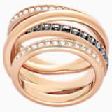 Anillo Dynamic, gris, Baño en tono Oro Rosa - Swarovski, 5143411