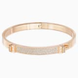 Bracciale rigido Distinct, bianco, Placcato oro rosa - Swarovski, 5152481