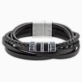 Náramek Alto, kožený, černý, smíšená kovová úprava - Swarovski, 5159629