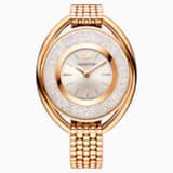 Reloj Crystalline Oval, Brazalete de metal, blanco, PVD en tono Oro Rosa - Swarovski, 5200341