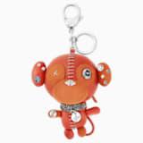Ernest Bag Charm, Orange, Stainless steel - Swarovski, 5201632