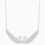 Swan Lake Necklace, White, Rhodium plating - Swarovski, 5201962