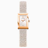Memories Watch, Crystal Mesh Strap, White, Rose-gold tone PVD - Swarovski, 5209184