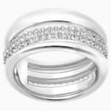 Exact Ring, White, Rhodium plated - Swarovski, 5210668