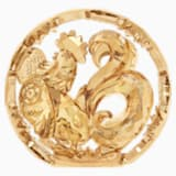 Chinese Zodiac - Rooster , Gold Tone - Swarovski, 5213550