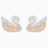 Swarovski Iconic Swan Pierced Earrings, Multi-colored, Rhodium plated - Swarovski, 5215037