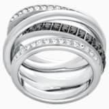 Prsten Dynamic, šedý, rhodiovaný - Swarovski, 5221437