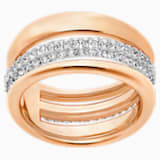 Exact Ring, White, Rose-gold tone plated - Swarovski, 5221572