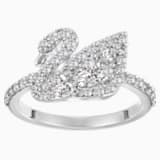 Swan Lake 戒指, 白色, 鍍白金色 - Swarovski, 5224476