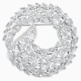 Aloft Brooch, White, Rhodium plated - Swarovski, 5240496