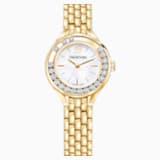 Lovely Crystals Watch, Metal bracelet, Gold-tone PVD - Swarovski, 5242895