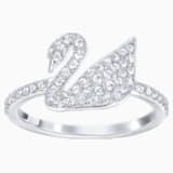 Swarovski ikonikus hattyú gyűrű, fehér, ródium bevonattal - Swarovski, 5250744