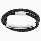 Braccialetto Gesture, Pelle, grigio, acciaio inossidabile - Swarovski, 5252387