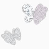 Gemina 胸針套組, 鍍白金色 - Swarovski, 5255779