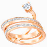 Fresh 戒指, 中码, 白色, 镀玫瑰金色调 - Swarovski, 5257524