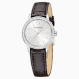 Graceful Mini Watch, Leather strap, Brown, Stainless steel - Swarovski, 5261487