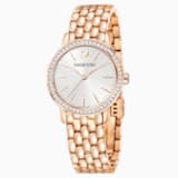 Graceful Watch, Metal bracelet, Rose-gold tone PVD - Swarovski, 5261490