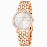 Montre Graceful, Bracelet en métal, PVD doré rose - Swarovski, 5261490