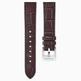 18mm Watch strap, dark brown, Rose-gold tone plated - Swarovski, 5263562