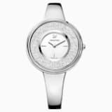 Crystalline Pure Saat, Metal bileklik, Beyaz, Paslanmaz çelik - Swarovski, 5269256