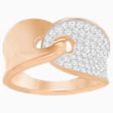 Guardian Ring, White, Rose-gold tone plated - Swarovski, 5272354