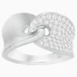 Guardian Ring, White, Rhodium Plating - Swarovski, 5279057