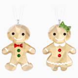 Gingerbread Couple Ornament Set - Swarovski, 5281766