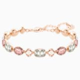 Girlfriend Bracelet, Multi-coloured, Rose-gold tone plated - Swarovski, 5286161