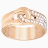 Gallon 戒指, 白色, 镀玫瑰金色调 - Swarovski, 5293776