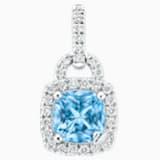 同心锁18K金粉蓝托帕石钻石链坠 - Swarovski, 5294550