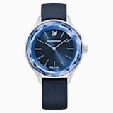Octea Nova Часы, Кожаный ремешок, Синий Кристалл, Нержавеющая сталь - Swarovski, 5295349