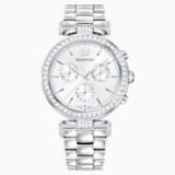 Era Journey 腕表, 金属手链, 白色, 不锈钢 - Swarovski, 5295363