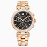 Era Journey-horloge, Metalen armband, Grijs, Roségoudkleurig PVD - Swarovski, 5295366