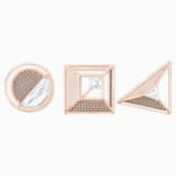 Hillock Brooch Set, White, Rose-gold tone plated - Swarovski, 5297354