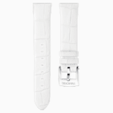 18mm Watch strap, Leather, White, Stainless Steel - Swarovski, 5301942