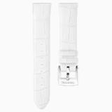 Pasek do zegarka 18 mm, skóra, biały, stal nierdzewna - Swarovski, 5301942