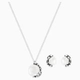Has Set, White, Silver plating - Swarovski, 5345336