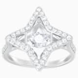 Sparkling Dance Star 戒指, 白色, 鍍白金色 - Swarovski, 5349666