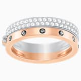 Hint Double Ring, White, Mixed plating - Swarovski, 5350141