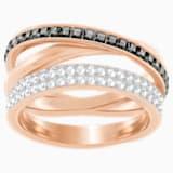 Hero 戒指, 灰色, 镀玫瑰金色调 - Swarovski, 5350665