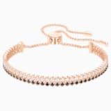 Subtle Bracelet, Black, Rose-gold tone plated - Swarovski, 5352092