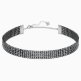Fit Necklace, Black, Ruthenium plated - Swarovski, 5355185