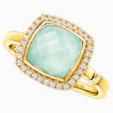幸福舞台18K黃金绿玉髓钻石戒指 - Swarovski, 5362973