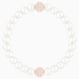 Swarovski Remix Collection Crystal Pearl Strand, White, Rose-gold tone plated - Swarovski, 5365746