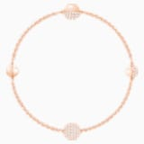 Swarovski Remix Collection Round Strand, White, Rose-gold tone plated - Swarovski, 5365763